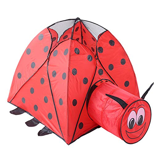 ZWJN Outdoor Tunnel Tent Children's Single-Layer Two-in-One Foldable Pop-Up Two-Speed Automatic Beach Tent for Boy Girl Best Birthday Present