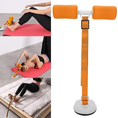 Dispositivo auxiliar de asiento profesional, pequeño equipo de asiento grueso ajustable, para gimnasio en casa, uso en viajes, abdomen, levantamiento de cadera plano(Orange)