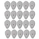 Bulary 20pcs Reusable Self-Adhesive Replacement Massage Pads Electrode Pad with Super Gel Unit Pads Electrode Pads for TENS/EMS Electronic Pulse Massager (Snap on)