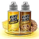 KUKU JUICE -Two Pack- 2x100ml -Premium Vape Juice 70/30 E <span class='highlight'>Liquid</span> for All E Cigarettes ECig Short-Fill for Electronic Cigarette Vapes Box Mod Pod Starter Kits E<span class='highlight'>liquid</span> 100ml No Nicotine