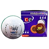 CE Fireworks White Leather Cricket Ball by Cricket Equipment USA (5.5 Ozs, Fireworks White)