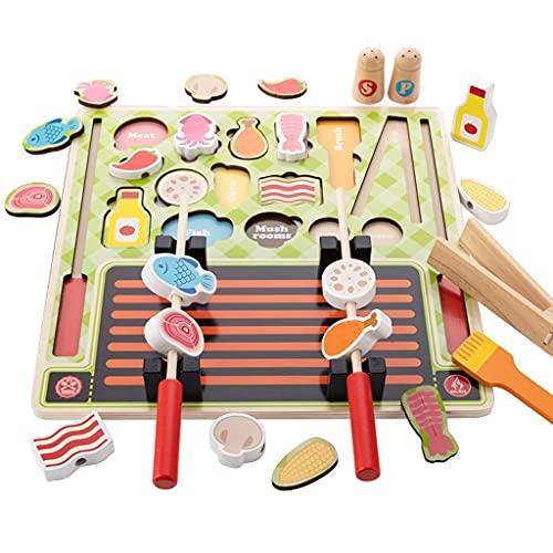 hsj WDX- Baby-Baby Jouer Maison Cuisine Jouet pour Enfants Couper et Cuisine Ensemble 1 à 2 garçons et Filles 3-6 Ans et 5 Filles Faire des Exercices