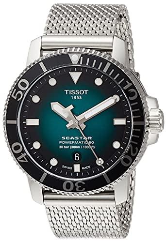 Tissot Herren-Taucheruhr Seastar 1000 Powermatic 80 Grün T120.407.11.091.00