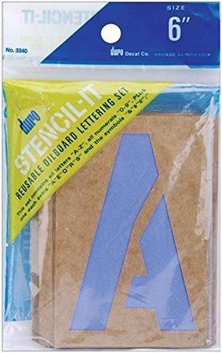"1/"" 1-Inch Duro by Graphic Products Stencil-It Oil Board Stencil Set"