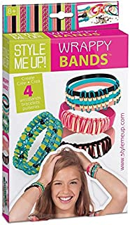 Style Me Up! - Kids Fashion Wristbands Making Kit - Girls DIY Plastic Bracelet Set - Make Your Own Craft Set - SMU-559