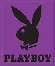 Classic Purple Playboy Bunny Head with Tuxedo Covertures Blanket Throw (84 x 94