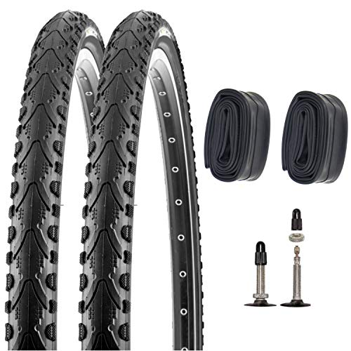 P4B | 2X Komplettes 26 Zoll Fahrradreifenset mit SV Schläuchen (47-559) | 26 x 1.75 | Mit K-Shield Pannenschutz für langanhaltenden Fahrspaß und weniger Reifenschäden