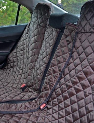 tierlando® Autoschondecke REX teilbar Reißverschluss Schutzdecke Auto 160 180 200 x 140cm Größe: SMR 200 cm | Farbe: 01 Braun