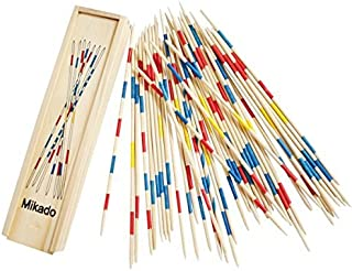 Trinkets & More - Mikado | Wooden 31 Pick-Up Sticks | Best Return Gift | Fun Family Indoor Board Game for Adults and Kids ...
