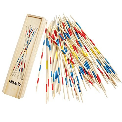 Trinkets & More - Mikado | Wooden 31 Pick-Up Sticks | Best Return Gift | Fun Family Indoor Board Game for Adults and Kids 5+ Years (Pack of 1)
