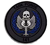 Call of Duty Task Force 141 3D Tactical Patch Military Embroidered Morale Tags Badge Embroidered Patch DIY Applique Shoulder Patch Embroidery Gift Patch