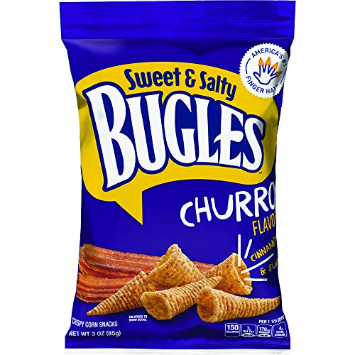 Bugles Sweet and Salty Churro, 1.58 Pound (Pack of 6)