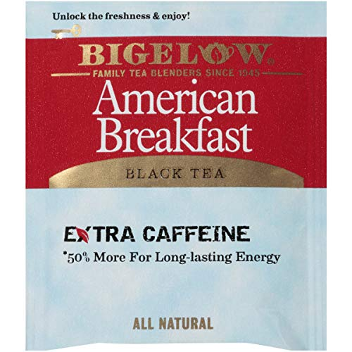 Bigelow American Breakfast Black Tea Bags, 20 Count Box (Pack of 6) Caffeinated Black Tea, 120 Tea Bags Total