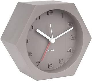 Karlsson Table Clock, Concrete, Dark Gray, One Size