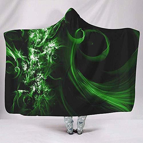 NA Cool abstrakt bunt grün schwarz Magie Kapuze Decke werfen Mantel Winter Magic Cape für Frauen Mann Student Kinder weich Teen Erwachsener auf Schlafsofa
