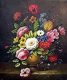FGHJSF Pintar por numerosFlores de Colores Pintura al óleo de DIY por Números con Pinceles y Pinturas para Adultos Niños Principiantes Lienzo Pintura al óleo - 40 X 50 cm (Sin Marco)
