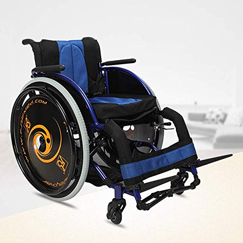 WLG Fashion Sport Wheelchairs 13.2Kg Ultra Lightweight Transport Chair Comfortable Arms and Lift