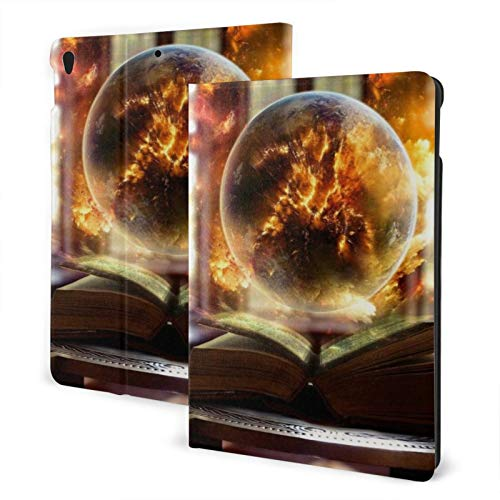 Magic Book Fire Ball New Ipad Case Fit 7th Generation/ Air3, Full-Body Trifold with Built-in Screen Protector Protective Smart Cover with Auto Sleep/Wake