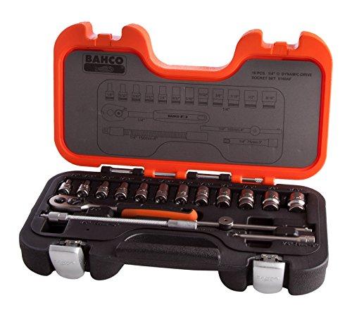Bahco S160AF BHS160AF dopsleutelset 1/4 inch, meerkleurig, 1/4 inch