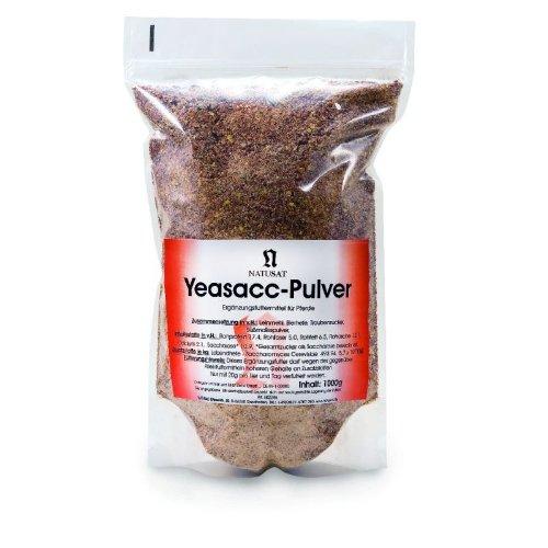 Natusat Yea-sacc Lebendhefe Pulver 1000 g, Ergänzungsfutter für Pferde