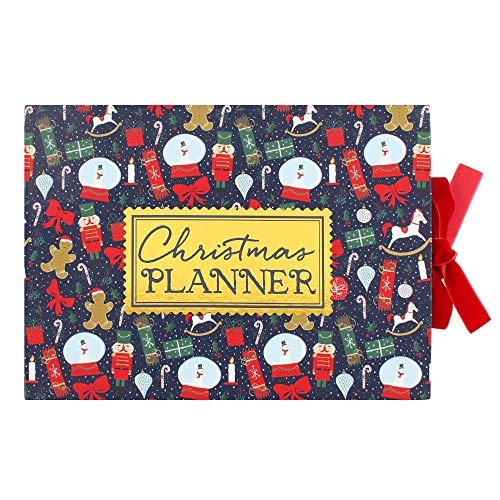 Christmas Planner Organiser Hardback For The Festive Period. Complete with Sticky Notes, Tear Off Shopping Lists and To Do Lists