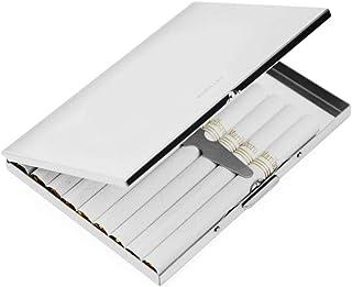 1 porta sigarette extra sottile in acciaio inox, sicuro e comodo per prevenire la frantumazione delle sigarette (argento).