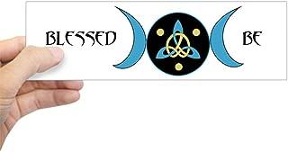 CafePress Blue Blessed Be Goddess Symbol Bumper Sticker 10