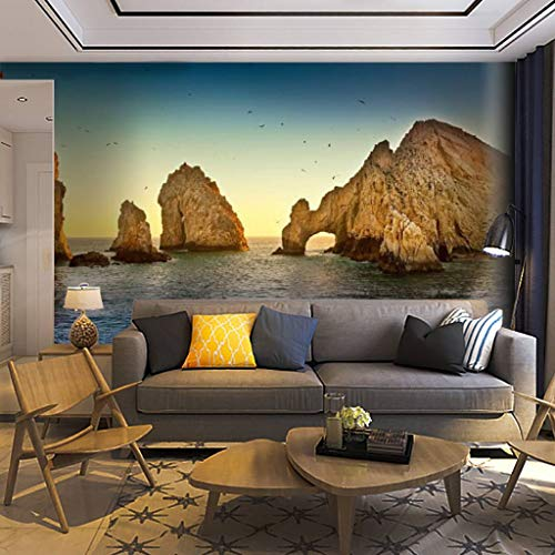 Wallpaper Wall Mural Landscape View of Lands end with Ocean and Large Rocks Beauty in Self Adhesive Removable Peel & Stick Wall Decor Home Craft Wall Decal Wall Poster Sticker for Living Room
