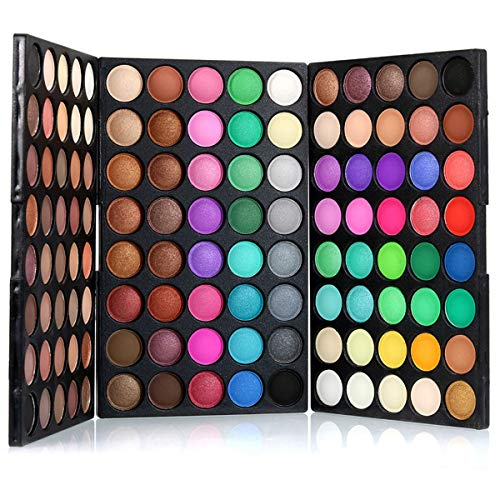 Pure Vie Professional Highlight Eyeshadow Palette Makeup Contouring Kit - 120 Colors Highly Pigmented Nudes Warm Natural Matte Shimmer Cosmetic Eye Shadows Pallet Powder Palette - Holiday Gift Set