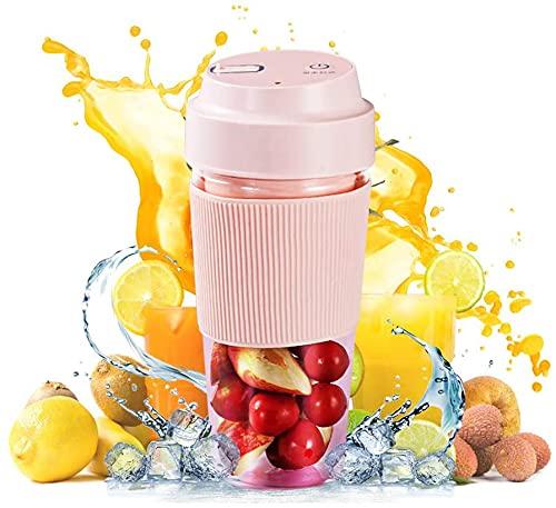 Mini Frullatore, Frullatore Portatile Elettrico con 4 lame per Frutta e Verdura Ricaricabile con USB. 300mL Blender con Bottiglia Portatile Mixer fare per succhi, frullati