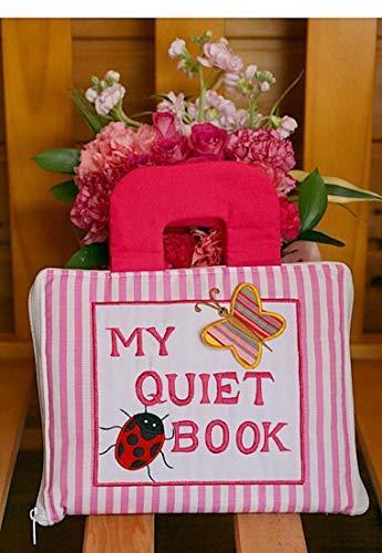 布絵本 MY QUIET BOOK マイクワイエットブック ピンクストライプ 英語刺しゅう版 知能開発レッスンブック 幼児教育