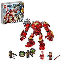 There's imaginative play on a big scale when young superheroes role-play battle adventures with the LEGO Marvel Avengers Iron Man Hulkbuster versus A.I.M. Agent (76164) playset, with its movable limbs and cool features Includes 4 minifigures – Iron M...