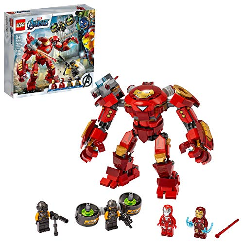 LEGO Marvel Avengers Iron Man Hulkbuster Versus A.I.M. Agent 76164, Cool, Interactive, Brick-Build Avengers Playset with Minifigures (456 Pieces)
