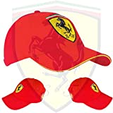 Gorra oficial Scuderia Ferrari–Ferrari Logo cosido a mano
