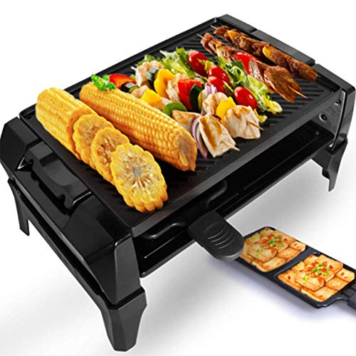 YFGQBCP Grill Smokeless Indoor BBQ Table Electric Grill Korean Style Barbecue Non-Stick Griddle Plate, for Gourmet Party