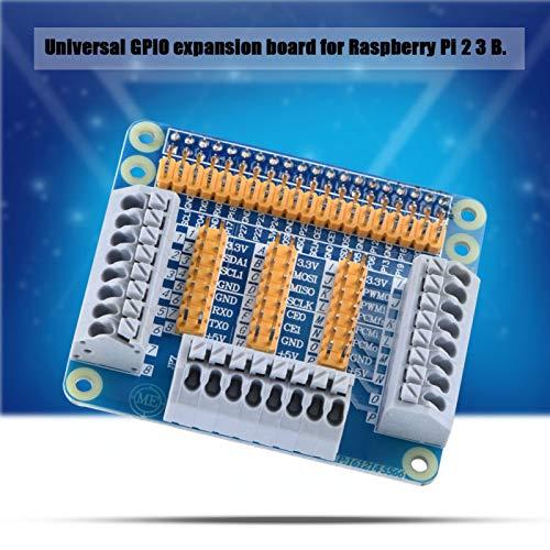 Shipenophy Proceso de impresión Multifuncional 1 a 3 Puertos DIY Jumber Caps GPIO Placa de expansión con Tornillos para Raspberry Pi 2 3 B