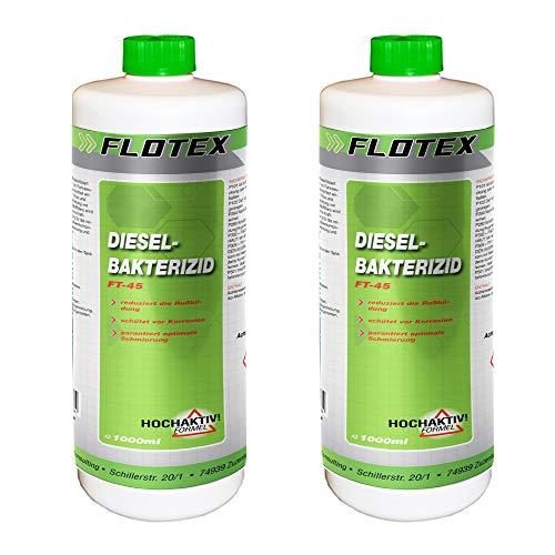 Flotex Diesel Bakterizid, 2 x 1L - Additiv Desinfektion für Dieselmotoren und Heizölsysteme