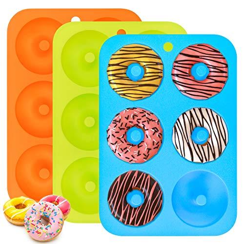 Silikon Donuts Backform, 3er Pack Donut...