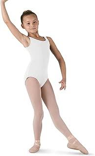 Bloch Dance Girls Tutu Scoop Front/Back Tank Leotard, White, Size 6X 7