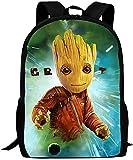 Mochila G-r-o-t para niña y niño, mochila escolar, Guardianes de la Galaxia para niños, mochila...