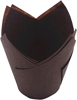 Topxingch 50 piezas a prueba de aceite Tulip Cake Cup Muffin