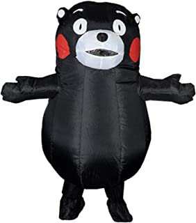 ANOTHERME Inflatable Bear Fancy Dress for Adult | Halloween Costume | Blow Up Costume Black