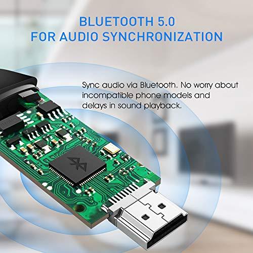 2-in-1 Typ C/Micro USB zu HDMI Kabel für Android Geräte, YBLNTEK Android zu HDMI Bluetooth 5.0 HDTV Mirroring & Ladekabel 1080P MHL zu HDMI Adapter Smartphone zu TV/Projektor/Monitor [2M]