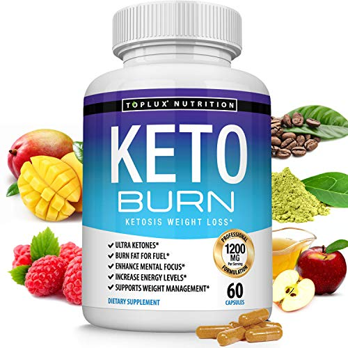 Keto Burn Pills Ketosis Weight Loss - 1200 Mg Ultra Advanced Natural Ketogenic Fat Burner Using Ketone Diet Boost Energy Focus & Metabolism Appetite Suppressant Men Women 60 Capsules Toplux Supplement