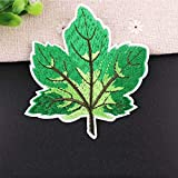 1Pc Maple Leaf Embroidery Patch Heat Transfers Iron On Sew Patches for DIY T-Shirt Clothes Sticker Decorative Applique,2BT-47298-5
