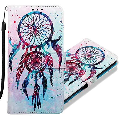 MRSTER Funda para Samsung Galaxy A10, 3D Moda Carcasa Libro Flip Case Antigolpes Cartera PU Cuero Funda con Función de Soporte para Samsung Galaxy A10. YB Double Campanula