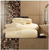 Gaveno Cavailia Juego de baño Resistente a la decoloración, 700 g/m², Toalla de baño Extra Absorbente, 100% algodón, Egipcio, limón, 4 Unidades de Mano