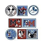 8 parches mickey allstar serigrafiados para planchar - REF.6750-U8