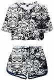 Giron My Hero Academia 3D Printed Sportswear Sets Anime Boku no Hero Tracksuits Summer Short Sleeve Hero Cosplay Deku Bakugou Todoroki Shouto Nightshirts Pajama Sets Boku No Hero 10 XXL