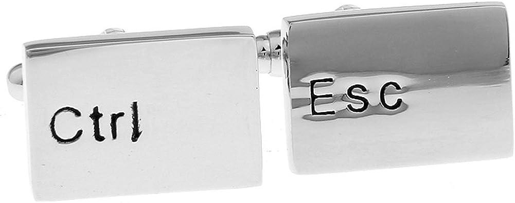 Mens Executive Cufflinks Career Collection Control Escape Ctrl Esc Computer Keyboard Cuff Links